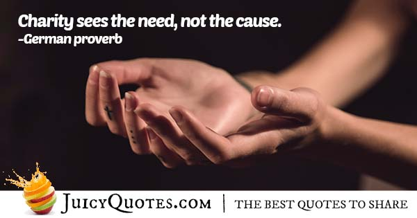 Need of Charity Quote