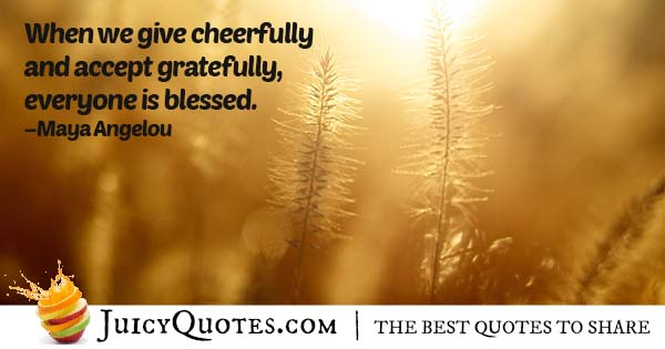 Giving Cheerfully Quote