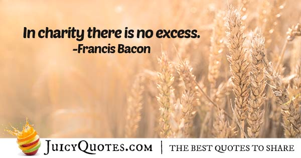 No Excess In Charity Quote