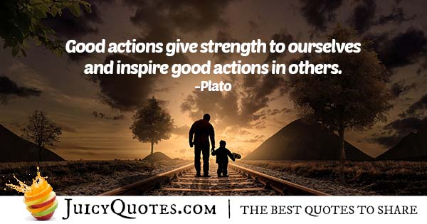 Doing Good Actions Quote