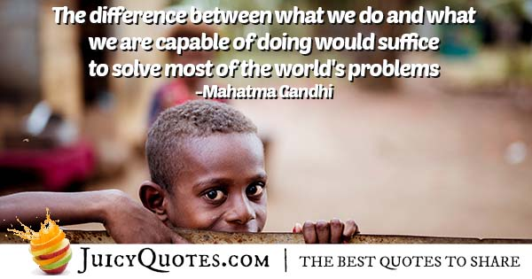 Solving World Problems Quote