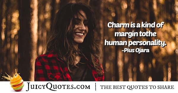 Personality and Charm Quote