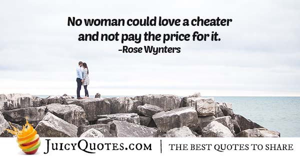 Can't Love a Cheater Quote