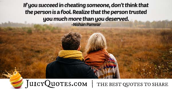 Cheating On Someone Quote