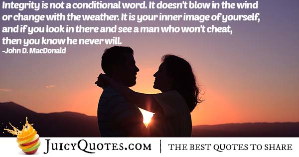 Won't Cheat Quote