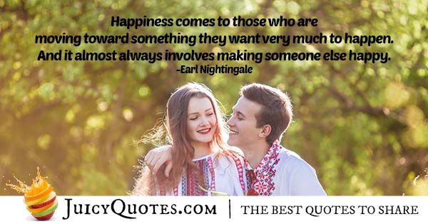 Happiness Comes To Those People Quote