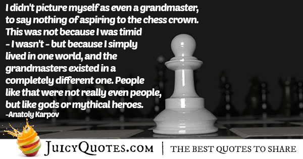 Chess Grand-master Quote