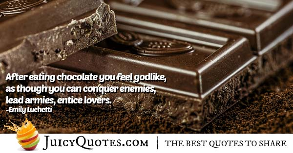 How Chocolate Makes You Feel Quote