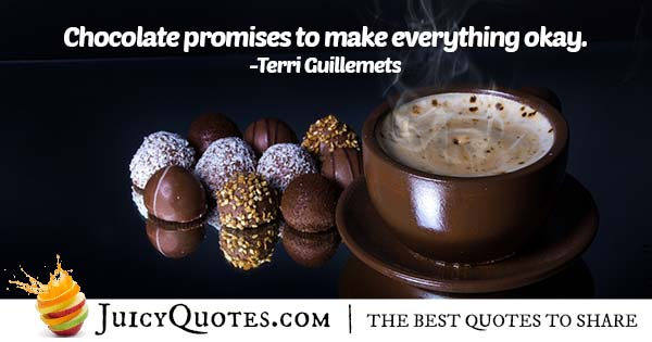 Chocolate Promises Quote