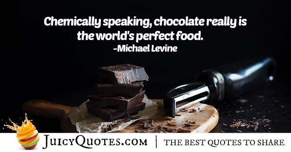 Chocolate is Perfect Quote