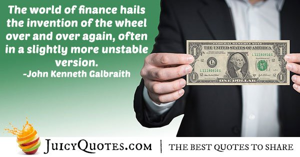 World of Finance Quote