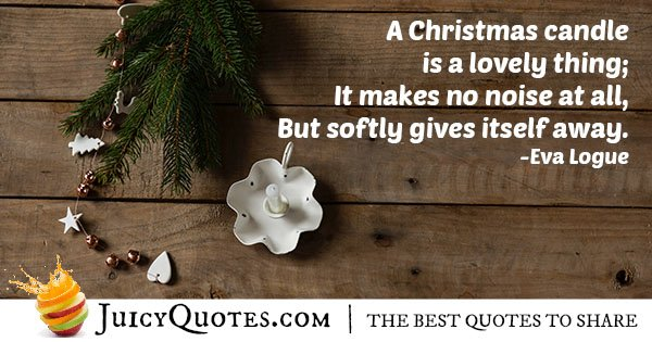 Christmas Candle Quote