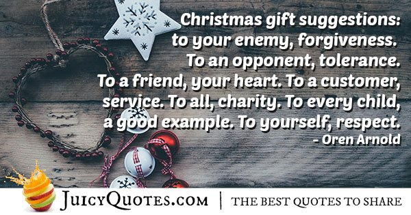 Christmas Gift Suggestions Quote - (With Picture)