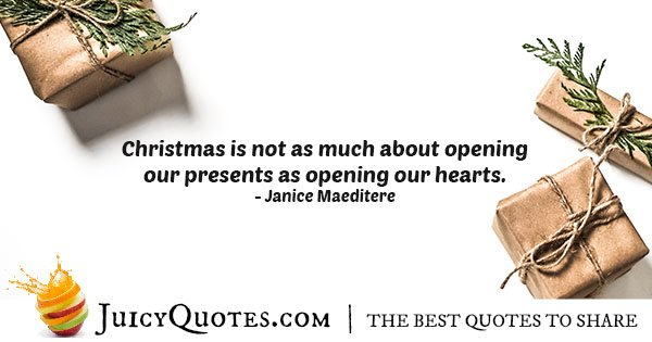 What Is Christmas About Quote
