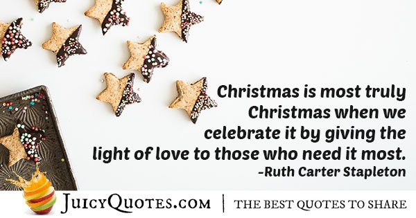 Truly Christmas Quote
