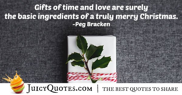 True Merry Christmas Quote