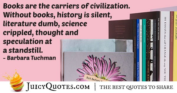 Civilization and Books Quote