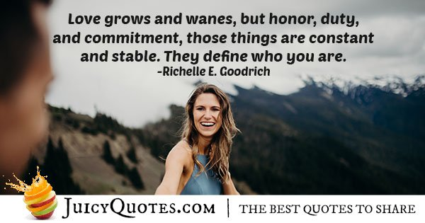 Commitment and Honor Quote