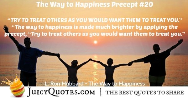 The Way To Happiness Precept 20 With Picture