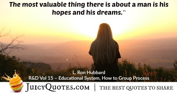 scientology quote by l ron hubbard 38
