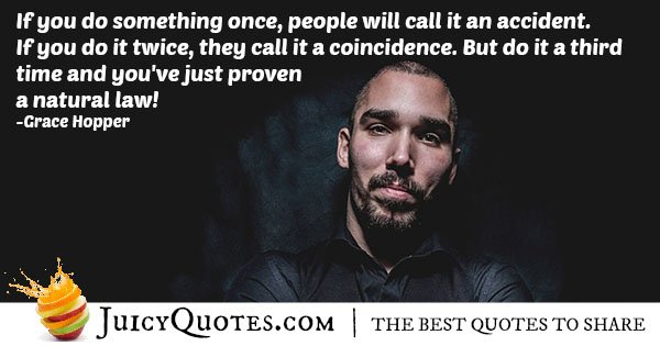 Number of Coincidences Quote