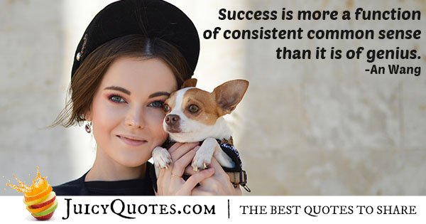 Success and Common Sense Quote