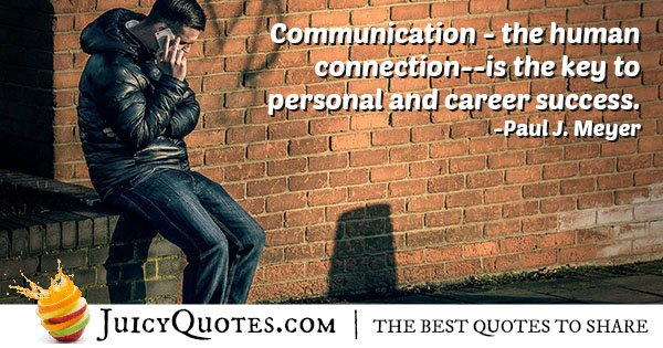 Communication is Key Quote