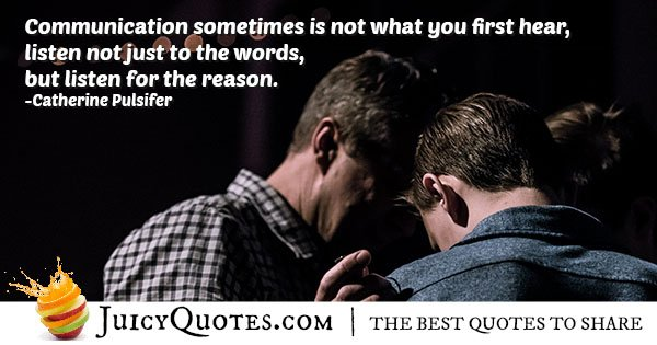 Reason of Communication Quote