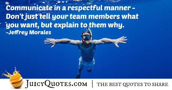 Communication and Respect Quote