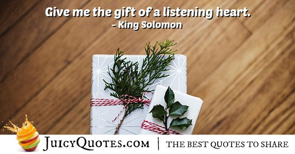 Gift of Listening Quote