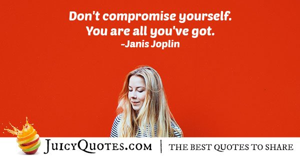 Do Not Compromise Quote