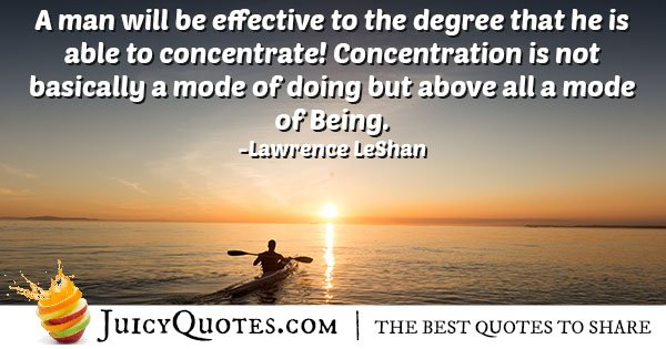 Effectiveness and Concentration Quote