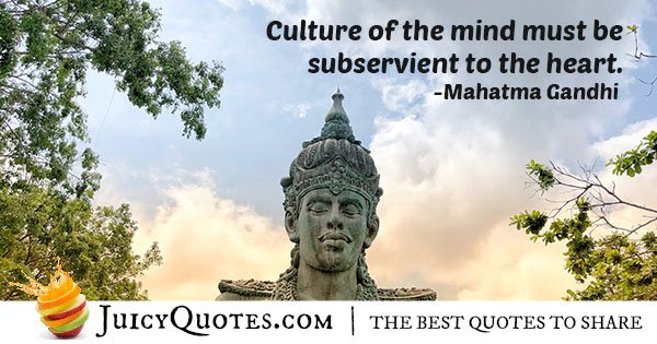 Culture of the Mind Quote
