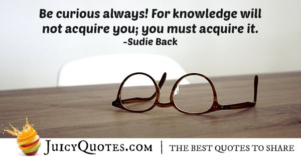 Always Be Curious Quote