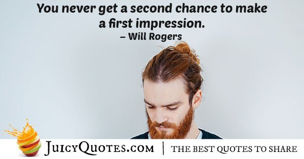 First Impression Quote