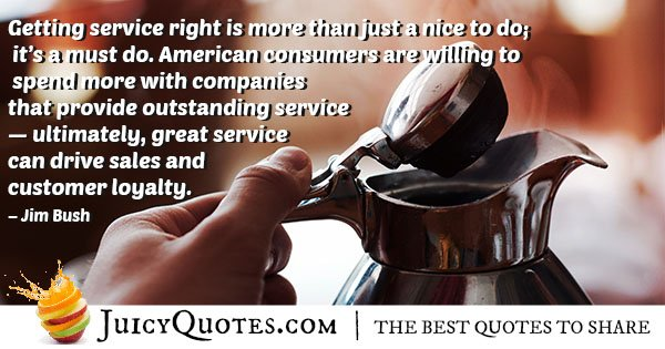 Getting Service Right Quote