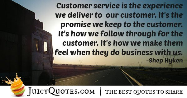 Customer Service Experience Quote