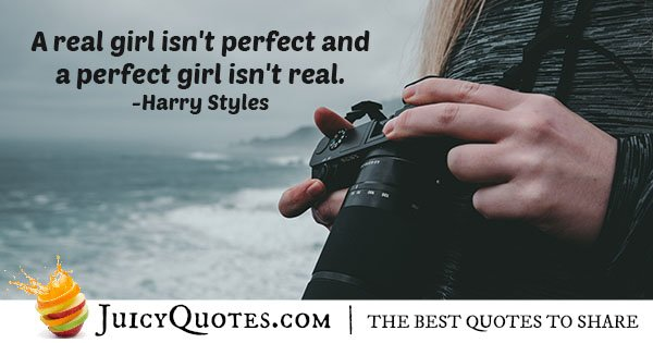 A Perfect Girl Quote With Picture
