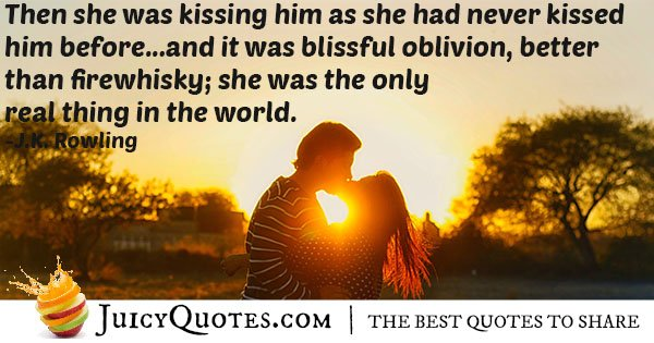 Kissed Like Never Before Quote