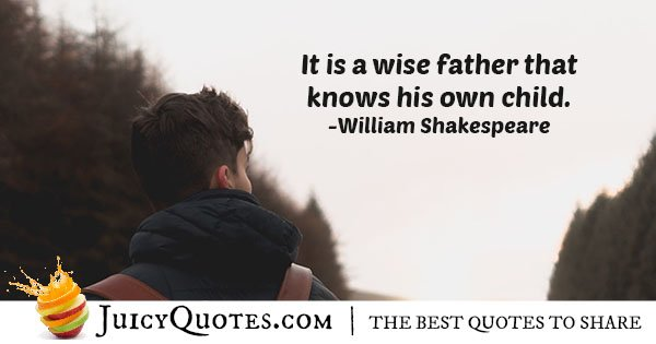 Know Your Child Quote