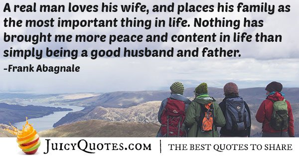 Father and Husband Quote