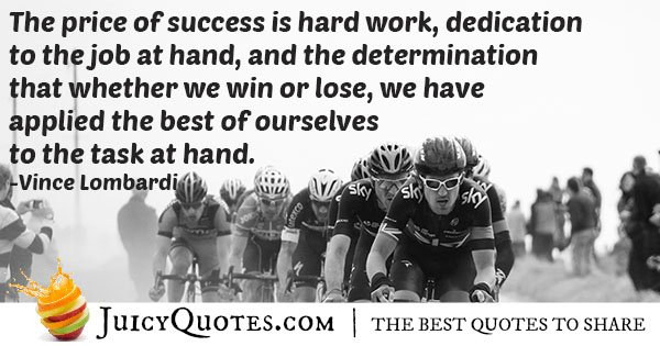 Hard Work and Dedication Quote