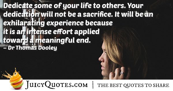 Dedication For Others Quote