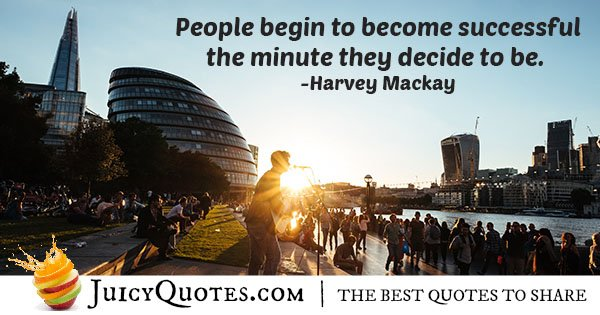 Becoming Successful Quote
