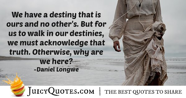 Our Destinies Quote
