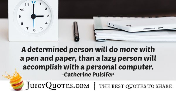 Determined Person Quote
