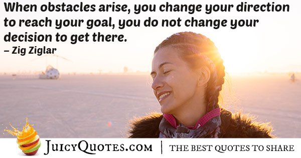 Obstacles and Decisions Quote
