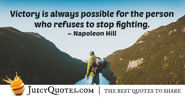 Never Stop Fighting Quote