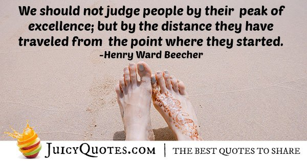 Quote About Judging Others With Picture