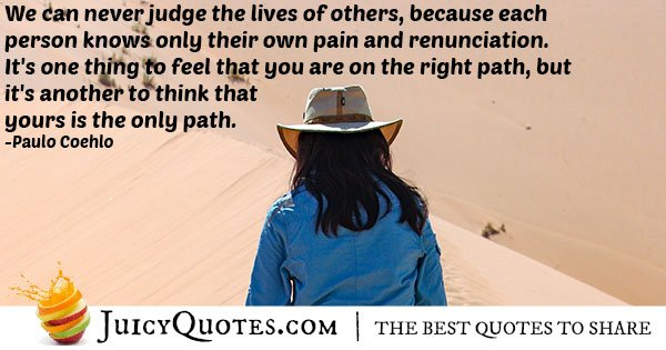 Never Judge Others Quote